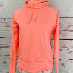 Lucy Lean and Mean Jacket Hoodie Cowl Neck Shirt